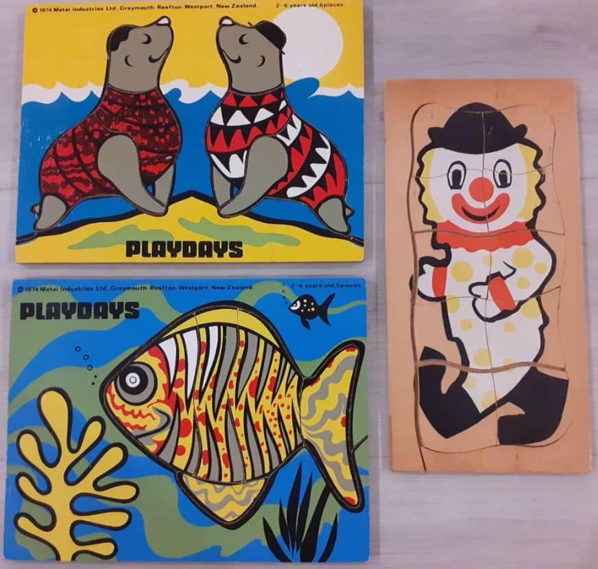Three Wooden Puzzles