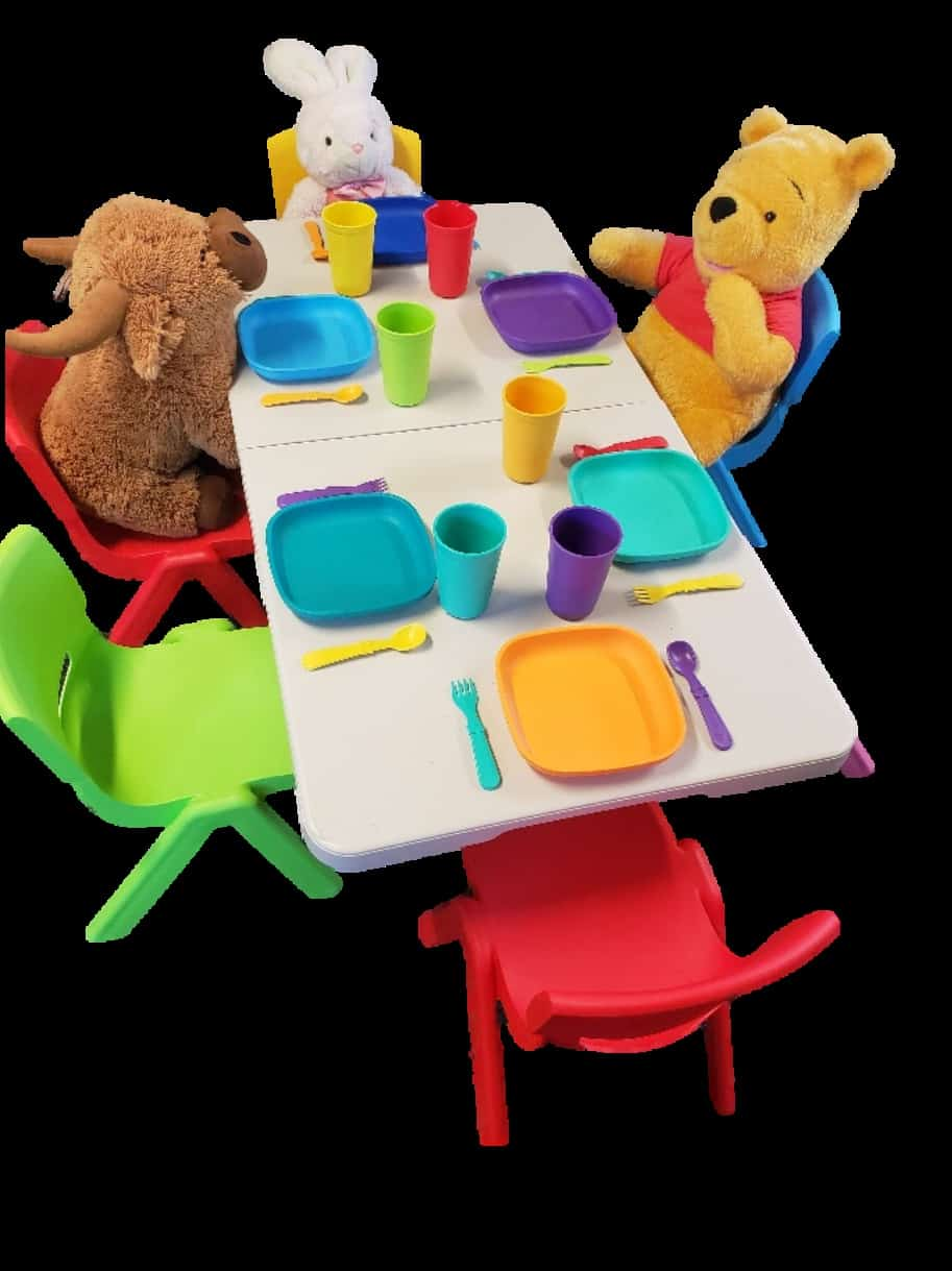 Kids Table and 8 Chairs (Set B)