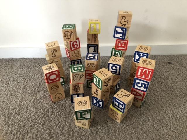 Small alphabet blocks photo