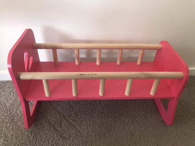 Pink Baby Doll Crib photo